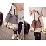 Hiigoo Printing Canvas Shoulder Bag Retro Casual