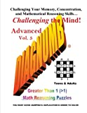 img - for Diagnumb Advanced Vol. 5: Greater Than 1 (>1) Math Reasoning Puzzles (Volume 5) book / textbook / text book