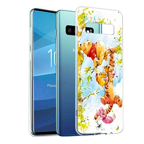 DISNEY COLLECTION Fit Samsung Galaxy S10 (6.1-Inch) Pooh and Tigger Winnie Climbs a -