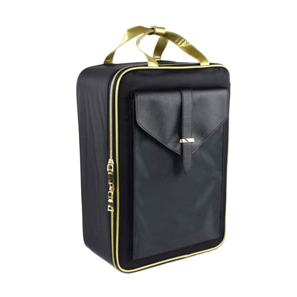 Lurrose Sac de rangement d\'organisateur de voyage de sac cosmétique imperméable portatif avec la taille de poignée S
