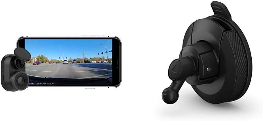 Garmin Dash Cam Mini, Car Key-Sized Dash Cam, 140-Degree Wide-Angle Lens, Captures 1080P HD Footage & Mini Suction Cup Mount for Speak, Plus, Dash Cam 45, 55 and 65W, 010-12530-05