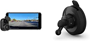 Garmin Dash Cam Mini, Car Key-Sized Dash Cam, 140-Degree Wide-Angle Lens, Captures 1080P HD Footage & Mini Suction Cup Mount for Speak, Plus, Dash Cam 45, 55 and 65W, 010-12530-05
