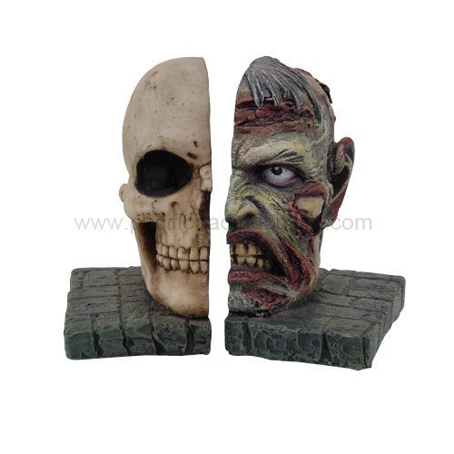 Walking Dead Zombie – Skull Bookends