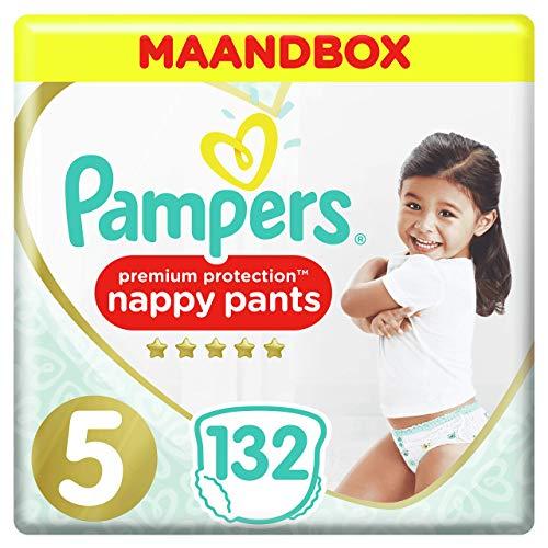 Pampers Premium Protection Pants Maat 5, 11-16 kg, 132 Luierbroekjes, De zachtste Luierbroekjes Van Pampers, Eenvoudig…