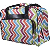 Janome Cheron Multi-Color Universal Sewing Machine Tote Bag, Canvas