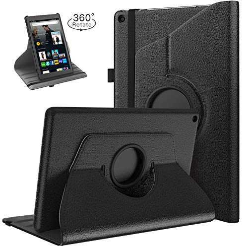TiMOVO Case Compatible for All-New Fire HD 10 (7th Generation, 2017 Release) - Ultra Lightweight Slim Shell 360 Degree Rotate Cover with Auto Wake/Sleep for Amazon Fire HD 10.1