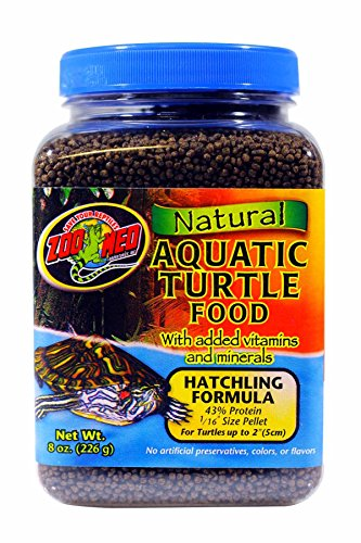 Zoo Med Natural Aquatic Turtle Food, Hatchling Formula, (Baby Turtle Food)