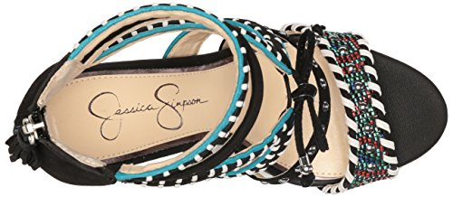 Jessica Black Fashion Sandals Elishia Women's Simpson FrZnHqWF