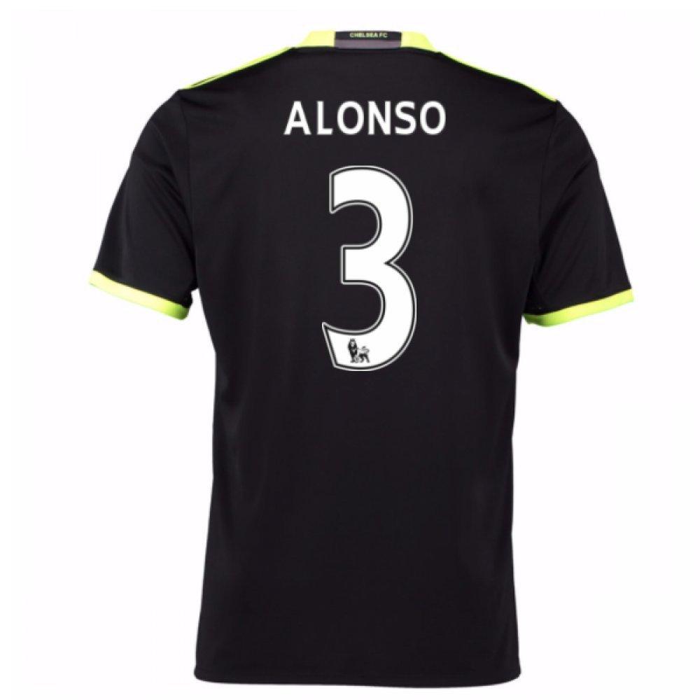 2016-17 Chelsea Away Shirt (Alonso 3) B07C8MJRDBBlack XL 44-46\