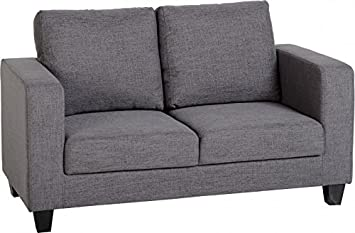 Awe Inspiring Seconique Tempo Two Seater Sofa In A Box Fabric Grey Seats Home Interior And Landscaping Eliaenasavecom