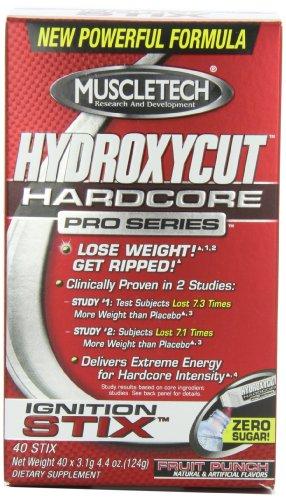 Hydroxycut instantanée clinique Pro Drink Mix, Fruit Punch, 3,1 g (40 pack)