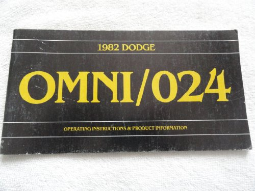 1982 Dodge Omni / 024 Owners Manual ()