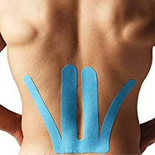 Spider Tech Kinesiology Tape Pre-Cut Lower Back, 4-Pack, Blue