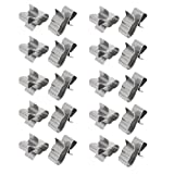 Aexit Solar Photovoltaic Power Supply and Power Module Parts Stainless Steel Cable Clip Clamp Silver Tone 20pcs