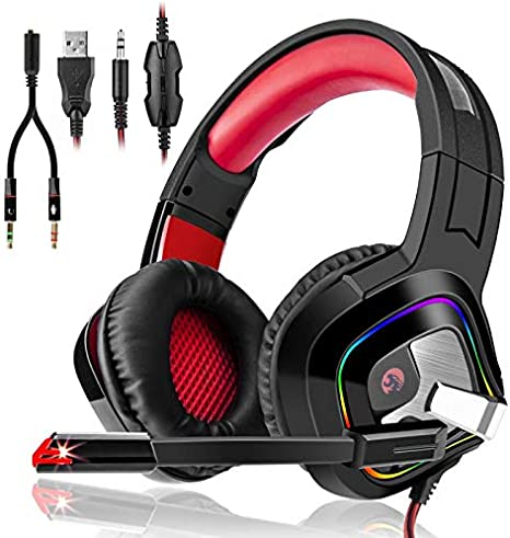 3I Dn. Auriculares Gaming Estéreo Cascos Gaming Adjustables con ...