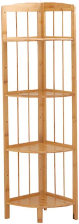 Bambú natural Estantería de bambú, Estante de la esquina Repisa escalera Organizador de almacenamiento Estante del almacenaje Pie de Multiusos Para los registros y libros -B 119x40x30cm(47x16x12inch): Amazon.es: Hogar