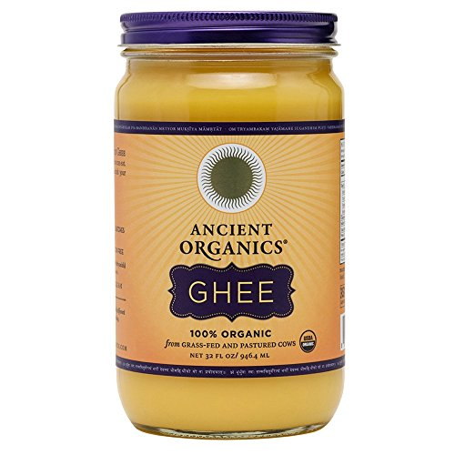 ANCIENT ORGANICS 100% Organic Ghee from Grass-fed Cows, 32oz