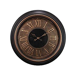 Kiera Grace kieragrace Genoa Oversized Wall Clocks, Bronze, Black