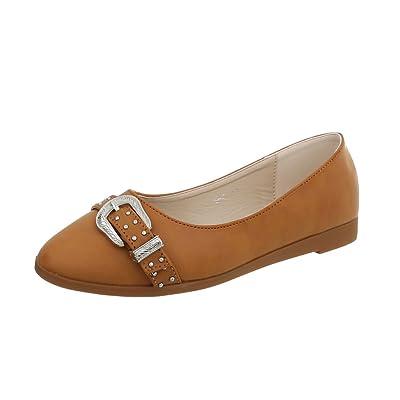Ital-Design Chaussures Femme Mocassins Plat Slippers