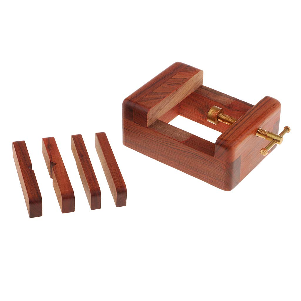 Baosity Wooden Stamp Carving Seal Bed Carved Bed Holder Base for Carving Stamp Stone Fixed Tools - Red Sandal Wood, as described