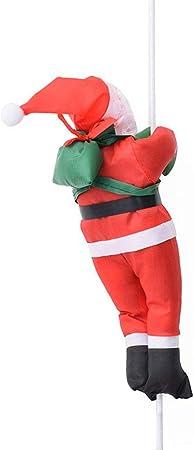 steadyuf Papá Noel Que Sube En Una Escalera De Cuerda 30 CENTIMETROS Escalera De Cuerda De Escalada Santa Claus Navidad Decoraciones Colgantes De Muñecas De Santa Claus Al Aire Libre Rojo: Amazon.es: