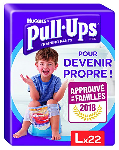 Huggies pull-ups for boys, size 6, large (16 kg – 23 kg), nappy pants for potty training at night, Disney Cars, 44 nappies (2 packs of 22 nappies) large (16 kg - 23 kg) 2188101