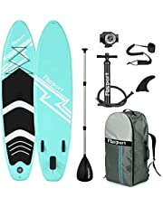 Premium Inflatable Stand Up Paddle Board (6 inches Thick) with Durable SUP Accessories & Carry Bag   Wide Stance, Surf Control, Non-Slip Deck, Leash, Paddle and Pump, Standing Boat for Youth & Adult