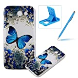TPU Case for Samsung Galaxy J730 2017,Clear Case for Samsung Galaxy J730 2017,Herzzer Ultra Slim Stylish [Colorful Pattern] Soft Silicone Gel Bumper Cover Flexible Crystal Transparent Skin Protective Case