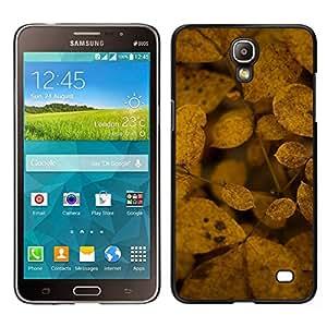 Caucho caso de Shell duro de la cubierta de accesorios de protección BY RAYDREAMMM - Samsung Galaxy Mega 2 - Decay Naturaleza Hojas de otoño amarillas