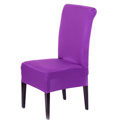 Superbe Ruizihjun Dinning Chair Slipcover Elastic Chair Cover Conjoined Household  Office Use Half Packing Chair Cover Multi