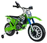 INJUSA Kawasaki 6775 Children's Motorbike with Electric Brake and Throttle Grip 6 V