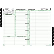 """Day-Timer Refill 2018, Two Page Per Day, January 2018 - December 2018, 5-1/2"""" x 8-1/2"""", Reference, Loose Leaf, Desk Size (92800-1801)"""