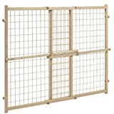 Position & Lock? Plus Gate, Clear Wood/Beige Mesh