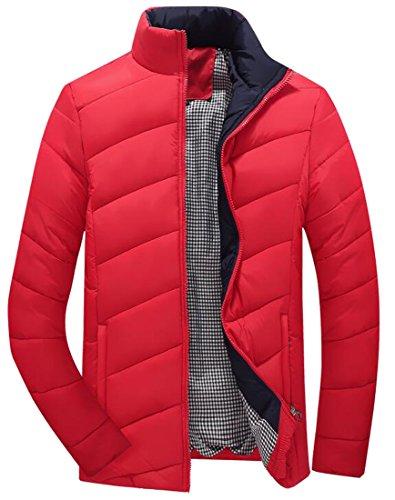 [해외]Oberora Mens 겨울 따뜻한 슬림 피트 퀼트 퍼 퍼스 자켓 코트 아웃웨어/Oberora Mens Winter Warm Slim Fit Quilted Puffer Jacket Coat Outwear