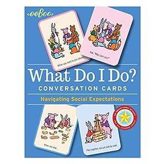 eeBoo What Do I Do Social Awareness Conversation Flash Cards