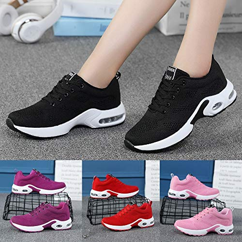 Gyoume Sports Shoes Women Slip On Shoes Running Walking Shoes Student Mesh Shoe by Gyoume (Image #4)
