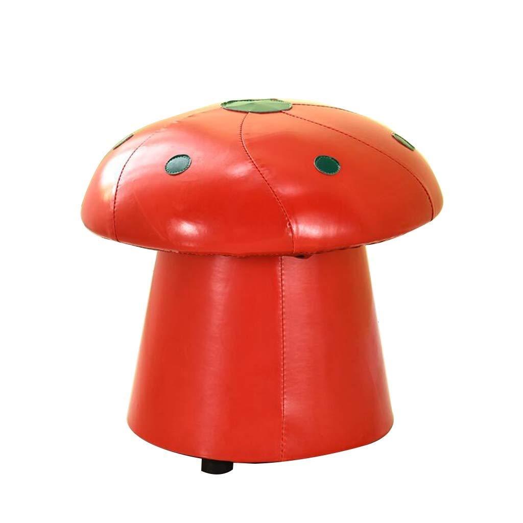 venta caliente en línea rojo Mushroom Jolly Asiento pequeño, Moda Zapato de de de Cambio de Fruta Creativo Niños de Dibujos Animados Taburete de Cuero Sofá Taburete (Color   rojo Mushroom)  salida para la venta