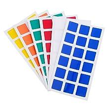 Han 6pcs Durable Stickers Set for 3x3x3 Rubik's Magic Cube