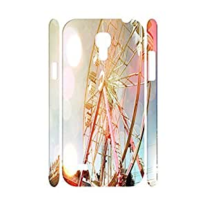 Charming Nature Scenery Series Colorful Sky Ferris Wheel Designer Hard Plastic Shell Cover for Samsung Galaxy S4 Mini I9195 Case