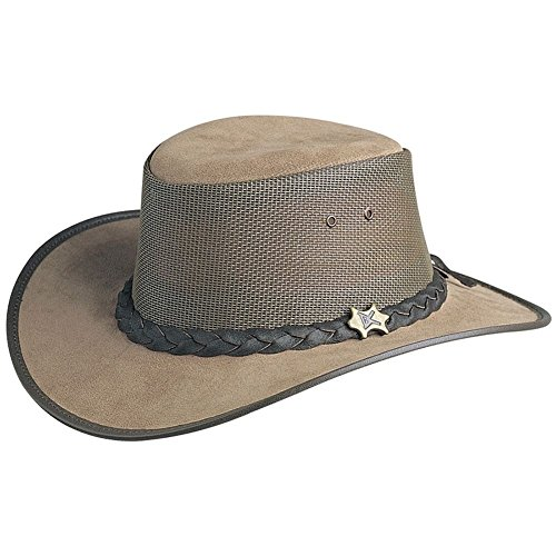BC Hats Cool As A Breeze Leather,Moose,US M