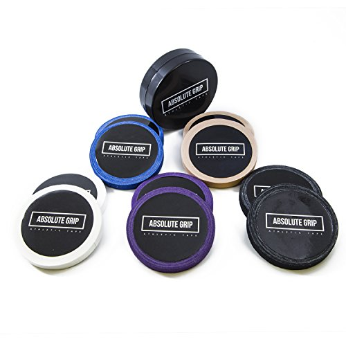 Absolute Grip athletic tape Purple (2 Roll) for BJJ, Judo, Climbing, Crossfit. (WITH FREE -