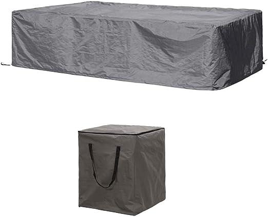 Perel Juego de Fundas Protectoras: Protectora 260 x 200 cm para jardín cojín de salón para Set + Funda para 6 – 8: Amazon.es: Jardín