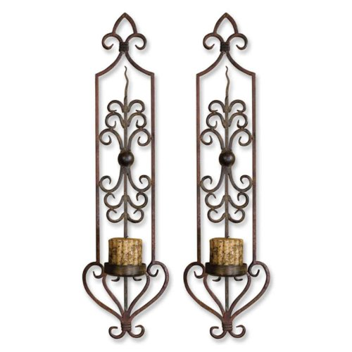 Uttermost Metal Wall Decor Set - Uttermost 30 by 6-1/2 by 8-Inch