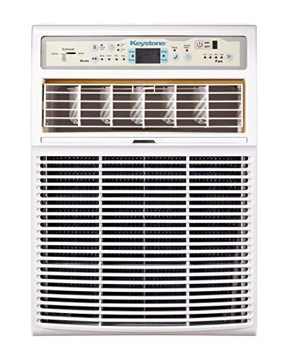 Keystone 10,000 BTU Slider Casement Window Conditioner   3 Fan Speeds   4-Way Air Direction Control   Sleep Mode…