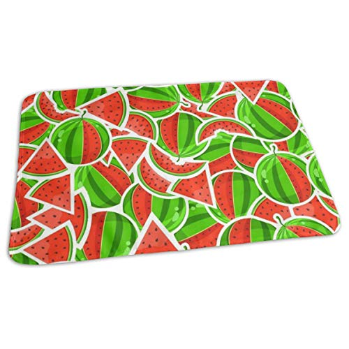 Changing Pad Red Watermelon Baby Diaper Incontinence Pad Mat Custom Kids Mattress Cover Sheet for Any Places for Home Travel Bed Play Stroller Crib ()