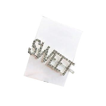 b3119b68f Rhinestone Hair Clip Letter Style Crystal Hairpin Barrette Women's Girls  Hair Styling Tool Bridal Hair Accessories