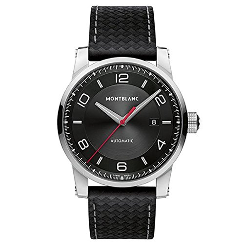 165c0446a Montblanc Timewalker Urban Automatic Black Dial Black Leather Mens Watch  113877: Amazon.ca: Watches