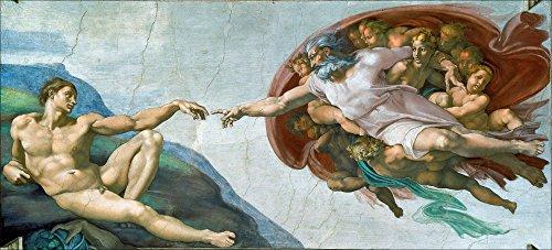 - American Vinyl Michelangelo The Creation of ADAM Sticker (fine Art Painting Bumper)