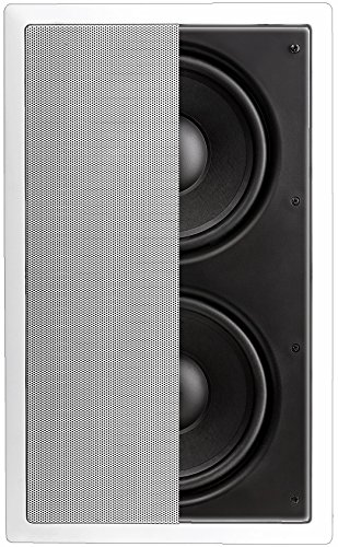 OSD Audio IWS88 In-Wall 350W Home Theater Subwoofer Dual 8-Inch Injected Woofers w/Back Bridge to Enhance Bass by OSD Audio