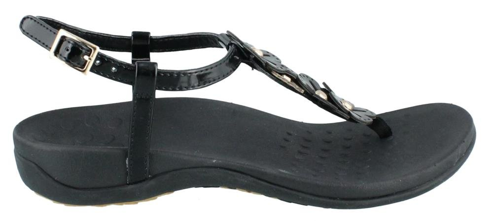 Vionic with Orthaheel Technology Womens Julie II Sandal Black Size 10